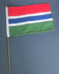 Gambia Country Hand Flag - Medium (stitched).